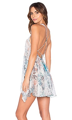 Patricia Mini Dress in Dreamy Blooms Turquoise