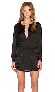 Sincerely Jules Dune Long Sleeve Dress in Black