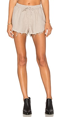 Sincerely Jules Lea Linen Short in Taupe