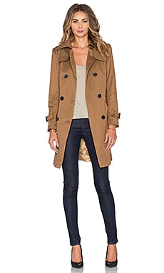 Sincerely Jules Rebel Trench Coat in Almond