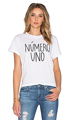 Sincerely Jules Numero Uno Tee in White