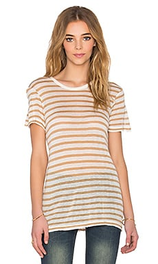 Sincerely Jules Beau Striped Tee in Mustard Stripe