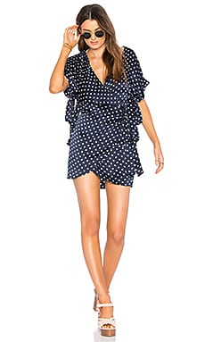 Bobbie Wrap Dress in Moon Print