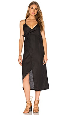 SIR the label Gigi Wrap Dress in Black