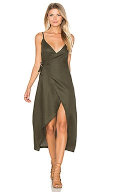 Gigi Wrap Dress in Khaki