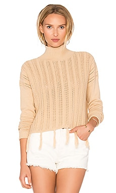 Tane Fringe Sweater in Bone