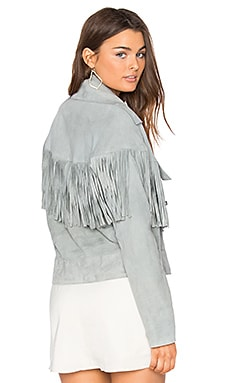 Thelma Fringe Jacket in Dove Gray