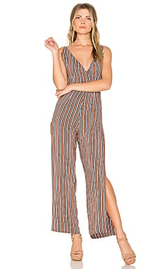 Zoee Jumpsuit in Rust Stripe