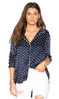Bobbie Button Up in Moon Print