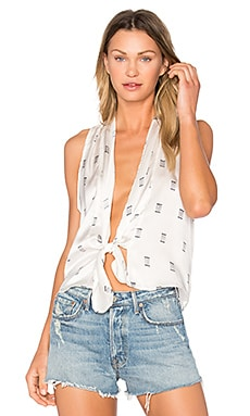 Sienna Tie Top in Square Print