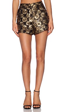 Sister Jane Gilded Lace Shorts in Gold
