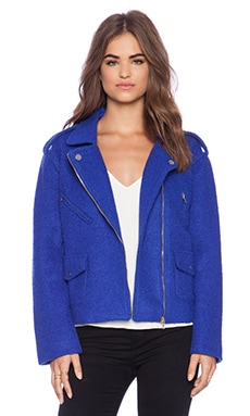 Sister Jane Blue Smoke Biker Jacket in Blue