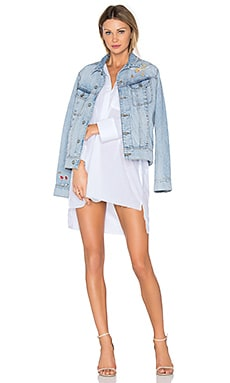 x REVOLVE Dana Denim Jacket in La Vie En Rose