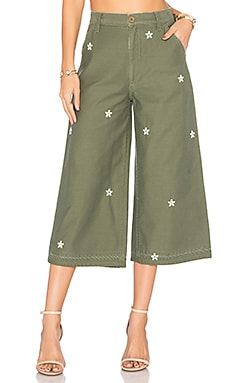Loretta Military Wide Leg in Jungle Bud