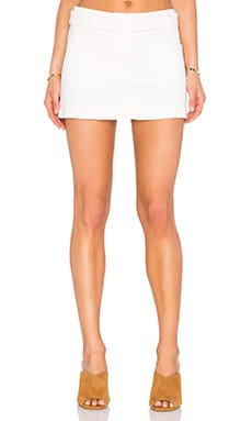 Addison Mini Skirt in Cream