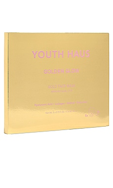 Youth Haus Golden Glow Face Mask 5 Pack Skin Gym $32