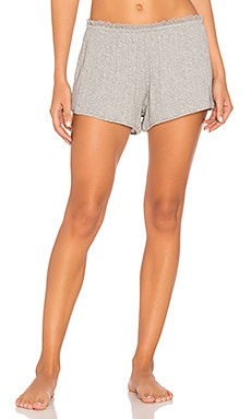 Sleep Lace Trimmed Short in Heather Grey