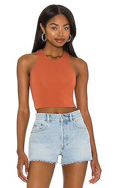 Calliope Reversible Crop Top Skin $60 Sustainable