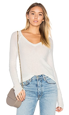 Jonas Deep V Sweater in White