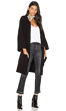 Micke 3/4 Sleeve Cardigan in Black