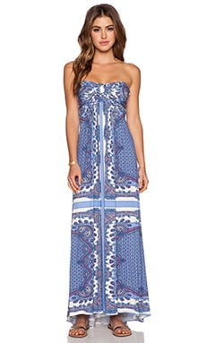 sky Ove Strapless Dress in Blue
