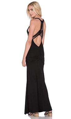sky Missbella Maxi Dress in Black