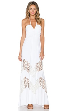 sky Phashes Dress in White