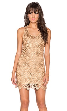 sky Ioanna Dress in Gold
