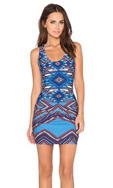 sky Hiu Mini Dress in Blue