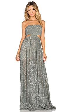 sky Tarek Cut Out Maxi Dress in Sage