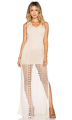 sky Nizar Maxi Dress in Bone