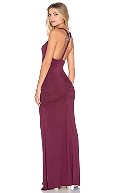 sky Tymber Maxi Dress in Burgundy