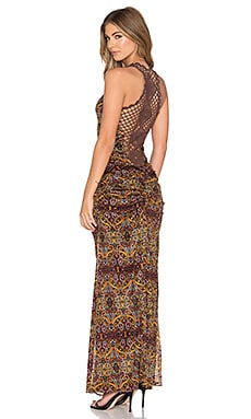 sky Rafi Maxi Dress in Brown