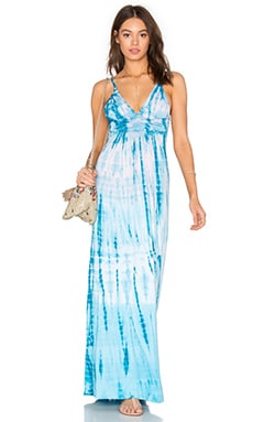 Yahaira Maxi Dress in Turquoise