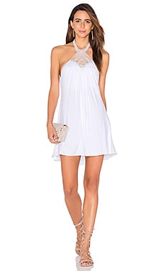 sky Galia Dress in White
