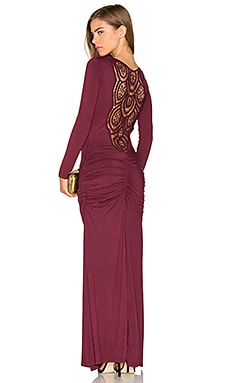 Tamotsu Dress en Merlot