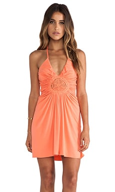 sky Greeta Mini Dress in Orange Sherbet