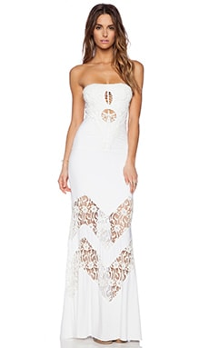 sky Neena Maxi Dress in White