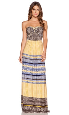 sky Phillipa Dress in Yellow