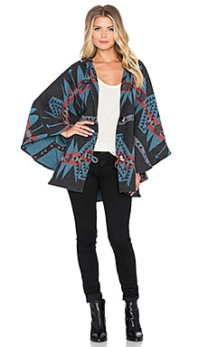 sky Chessa Poncho in Blue