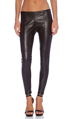 sky Rheat Leather Legging in Black