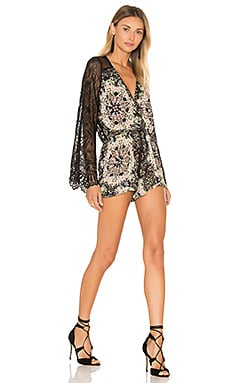 Yamir Romper in Black