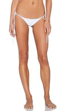 sky Daker Bikini Bottom in White