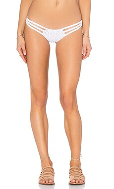 sky Farthing Bikini Bottom in White