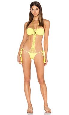 sky Faber One Piece in Yellow