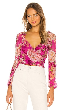 Frances Silk Top SAU LEE $285 NEW ARRIVAL