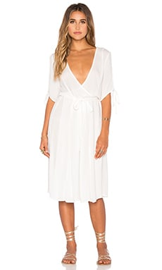 Maybelle Wrap Dress in Off White
