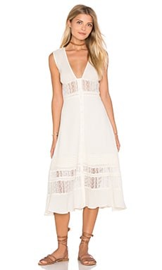 Somedays Lovin Fortune Peasant Dress in Cream