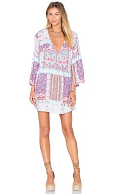 Skylight Cape Dress in Multi