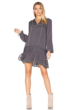 Eldora Smock Dress in Grey